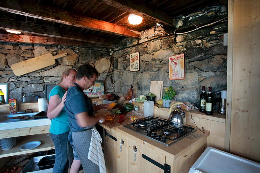 Koken in de buitenkeuken