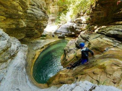 canyoning glijbaan Ligurië